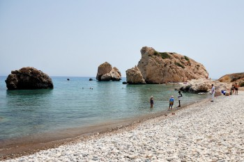 aphrodite rock beach in cyprus