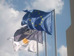 cyprus and eu flags