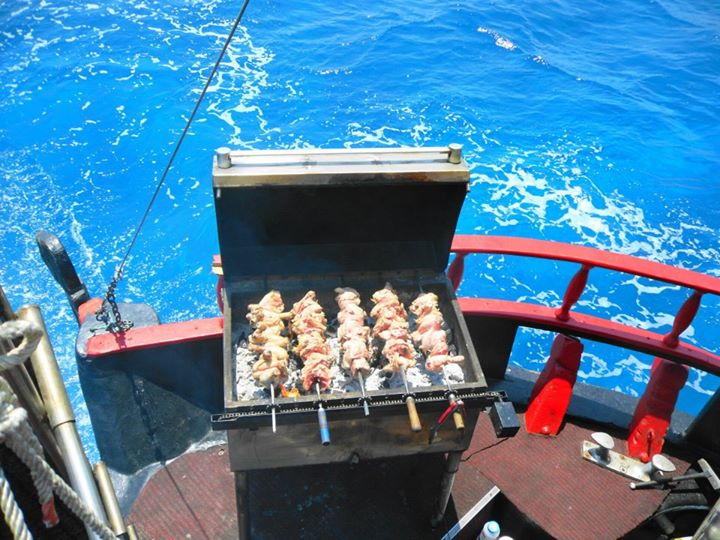 Pirate cruise in Cyprus: barbeque lunch on board