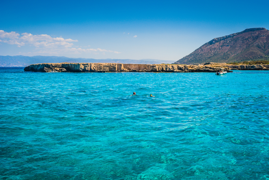 Blue lagoon in Cyprus
