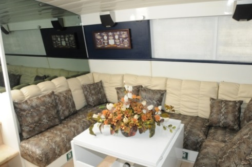 sitting area on board