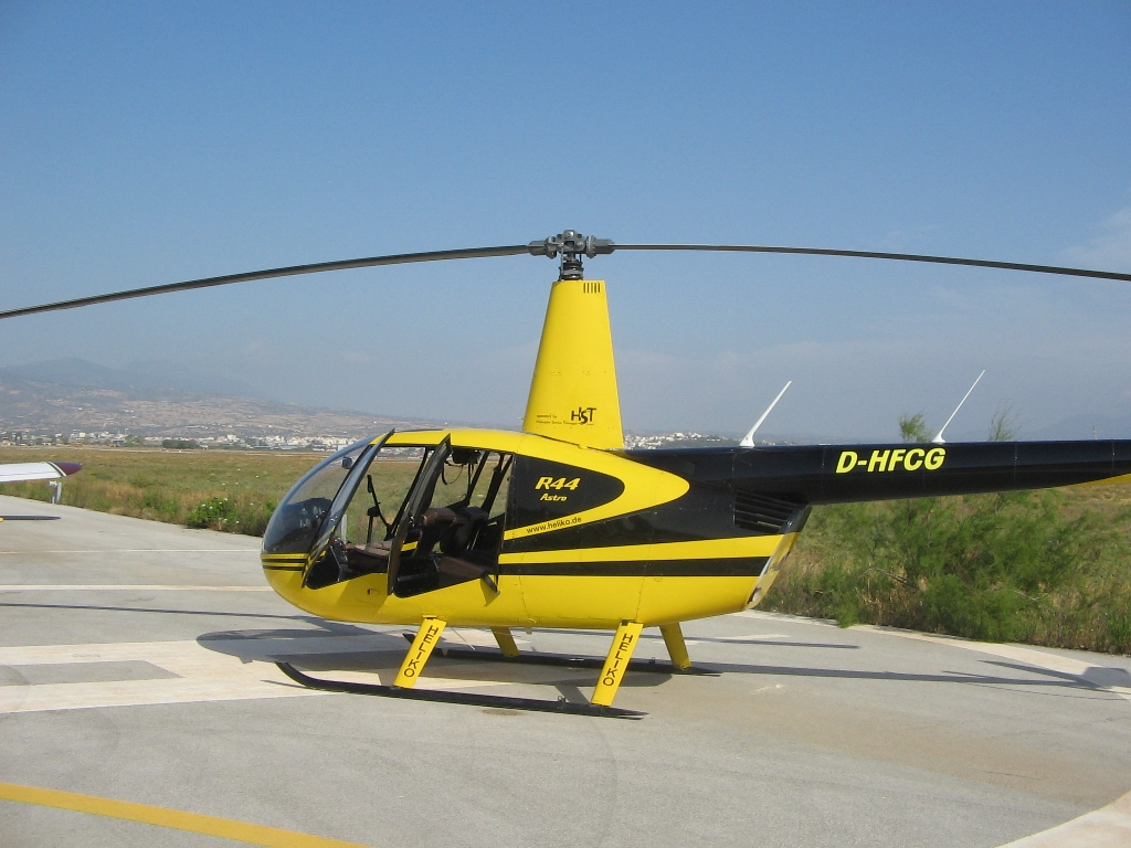 Helicopter in Cyprus