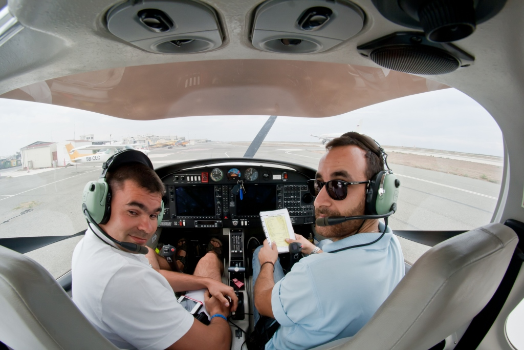 VIP trial flight courses in Cyprus