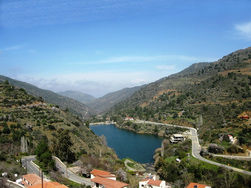 Arminou water dam in Cyprus