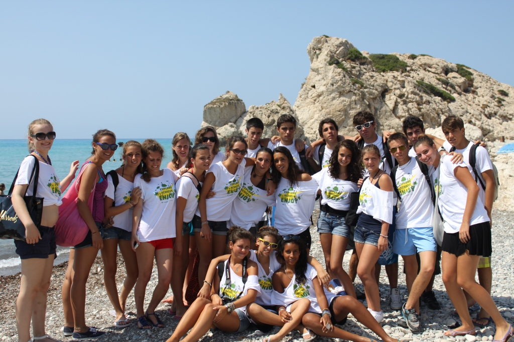 kids camp in Cyprus, aphrodite rock