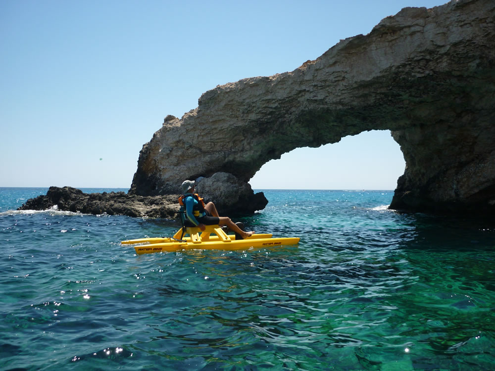 waterbiking excursion in Cyprus