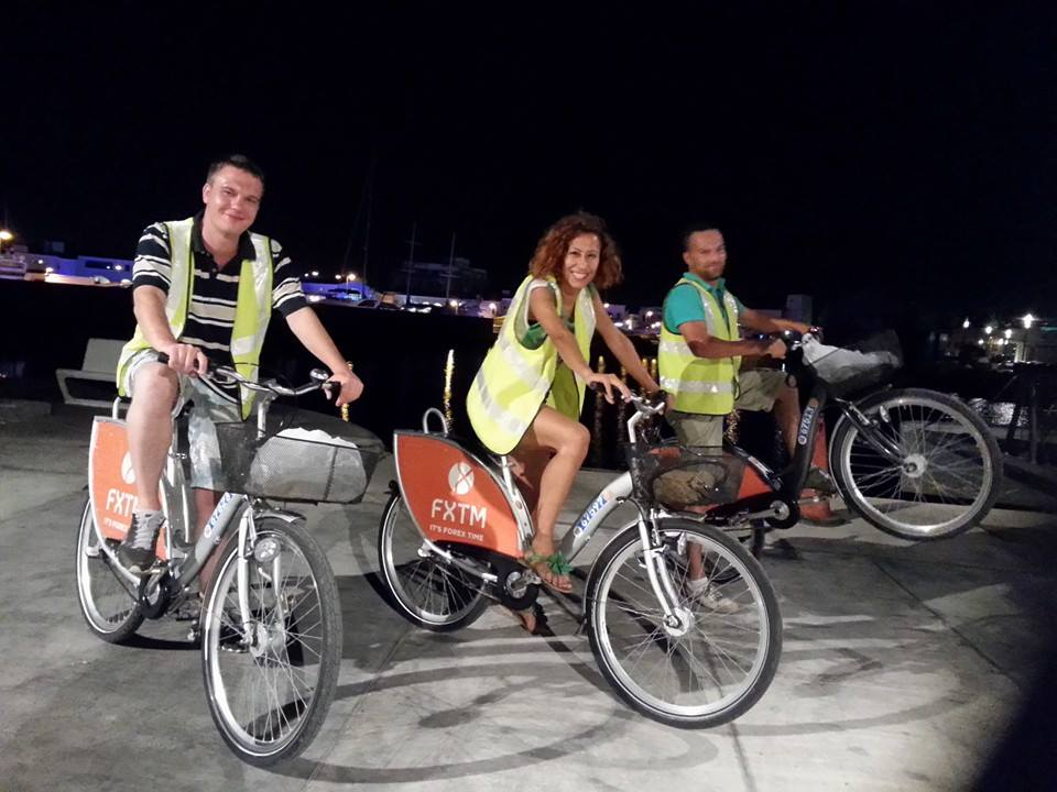 limassol by night, bicycle tour
